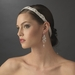 Vintage Ribbon Bridal Headband with Rhinestone Accents HP 8362