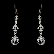 Silver Clear Swarovski Crystal Bead Dangle Earrings 2018