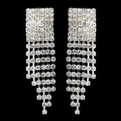 Silver Clear Round Rhinestone Chandelier Earrings 2020