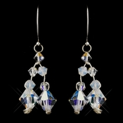 Silver AB Swarovski Crystal Bead Earrings 3292