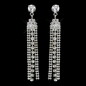 Silver Clear Dangle Rhinestone Earrings 3479