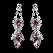 Light Amethyst Marquise Rhinestone Drop Earrings 8361