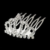 Silver Clear Rhinestone Small Baby Doll Tiara Comb Headpiece 6063**ONLY 1 LEFT*** Discontinued