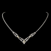Silver White Pearl & Clear Swarovski Crystal Bead Filigree Necklace 2706