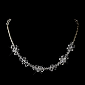 Silver Clear Swarovski Crystal Bead Necklace 6610