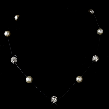 Classic Illusion Ivory Pearl Necklace N 8213