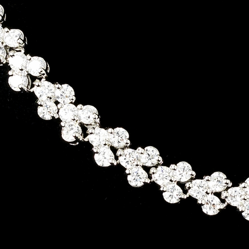 Wonderful Silver Clear CZ Follow Me Necklace 2026