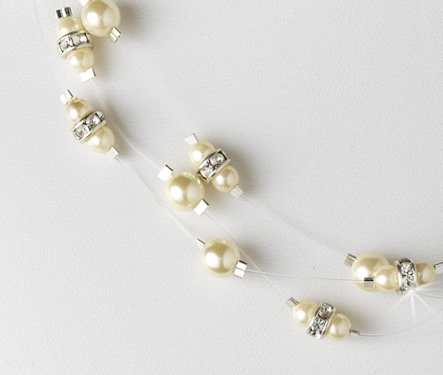 Necklace 8366 White**Pictured Is Ivory***