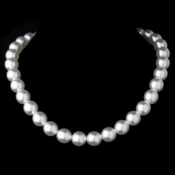 Necklace 8371 Silver Ivory