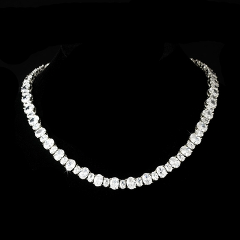 Pure Perfection Cubic Zirconia Necklace N 2403 Silver **Discontinued**