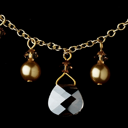 Necklace 8133 Gold Light Brown