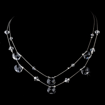 * Necklace 8140 Silver Clear