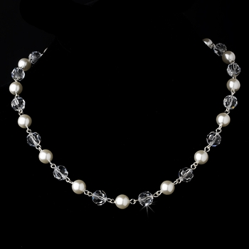 Necklace 8352 White