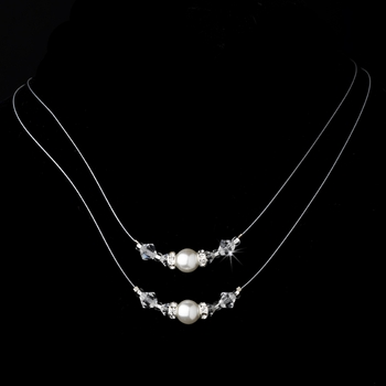 Necklace 8359 White or Ivory