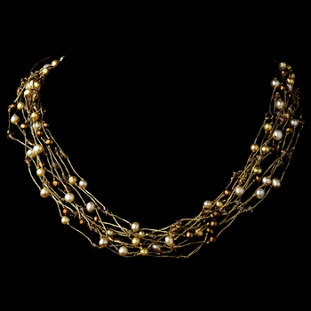 Necklace 8249 Gold Pearl** Discontinued***