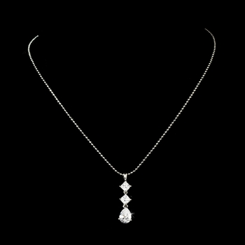 * Stunning Gold Clear CZ Necklace N 3618