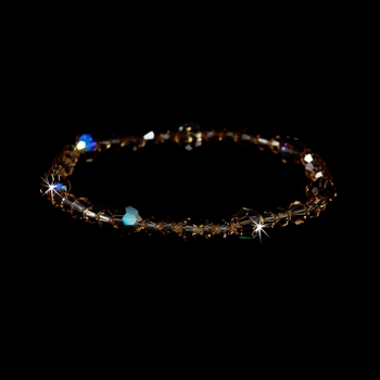 * Light Colorado Swarovski Crystal Stretch Bracelet B 239 * 1 Left *