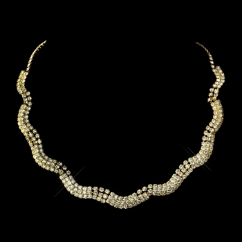 Gold Clear Necklace 70088