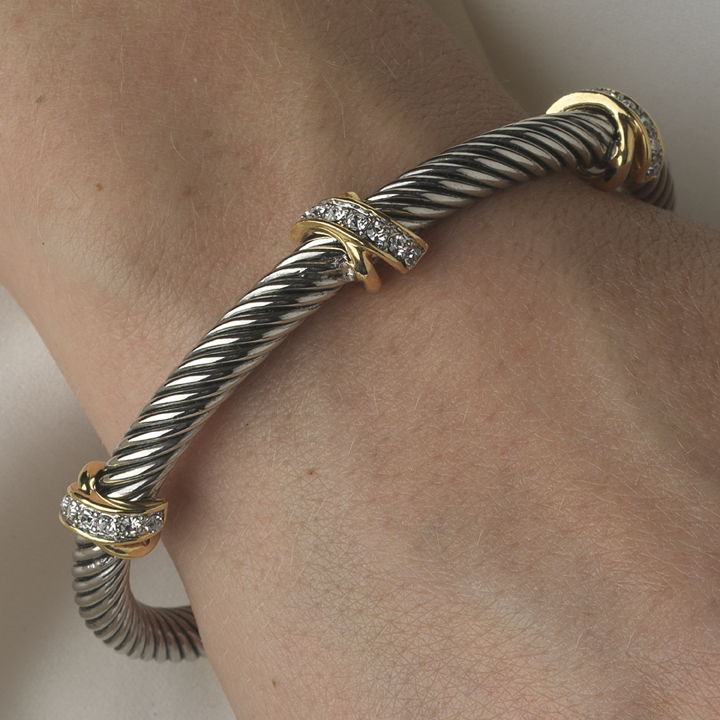 Wholesale similar designer bracelets like david yurman bangle for David yurman like bracelets