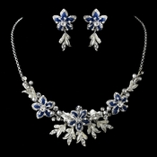 Stunning Royal Blue Jewelry Set NE 8100