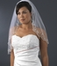 "Bridal Veil 101 1E Ivory - Single Layer Elbow Scalloped Embroidered Edge (30""long)"