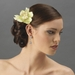 Realistic Looking Bridal  Orchid Flower Hair Clip - Clip 400 Mint Green