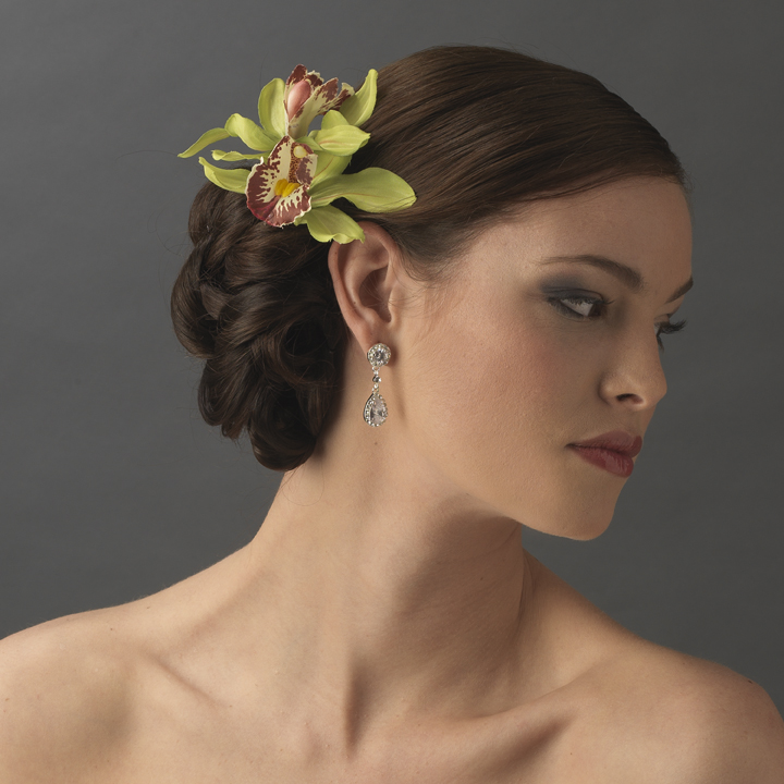 An Elegant And Sustainable Florida Home With Fantastic Views: * Elegant Delicate Mint Green Orchid Flower Hair Clip