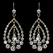 Gold Clear Earrings 24802
