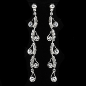 Silver Clear Earrings 20948