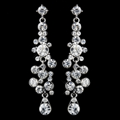 Antique Clear Rhinestone Drop Earrings 9961