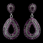 Antique Silver Amethyst Earrings 1056