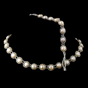 Natural Freshwater Pearl Necklace & Magnetic Clasp Bracelet 9014