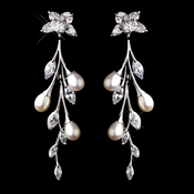 Pearl & CZ  Earrings 3061