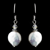 Freshwater Pearl & Crystal Hook Earrings 8212