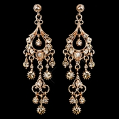 Antique Rose Gold Champagne Crystal Chandelier Earrings ***Discontinued***
