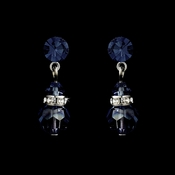Navy Swarovski Crystal Bridal Earrings 200