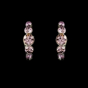 * Silver Amethyst Rhinestone Hoop Earrings 20339 * 1 Left *