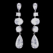Silver CZ Dangle Earrings 1725
