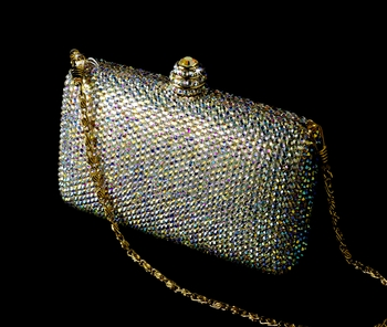 Bridal Evening Bag w/ Swarovski Crystals EB 0126 AB