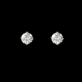 Sparkling 8mm Cubic Zirconia Earrings E 2521