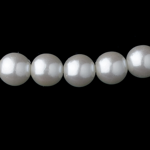 Silver White Pearl Necklace 6097 & Earrings 1025 Jewelry Set
