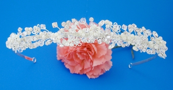 Crystal & Pearl Couture Bridal Headpiece HP-ME2262