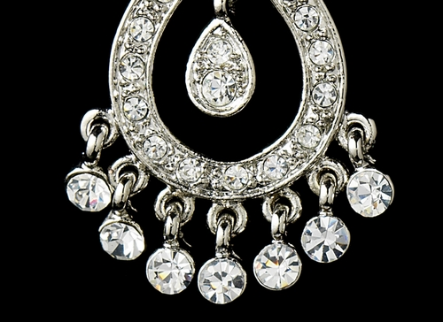 Silver Chandelier Earrings E6191-S