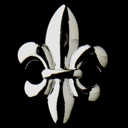 Silver Fleur De Lis Stud Bridal Earrings 9258