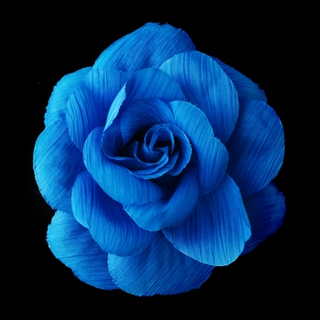 * Blue Flower Hair Clip with Brooch Pin 480