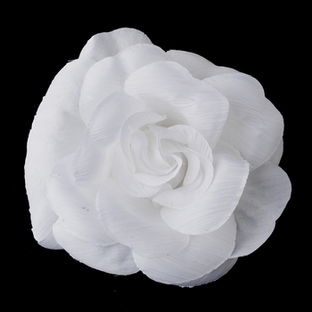 * White Flower Hair Clip 480 with Brooch Clip