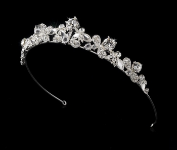 * Silver Plated Bridal Tiara HP 8310