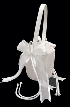 Bridal Flower Girl Basket  FB 90 Ivory