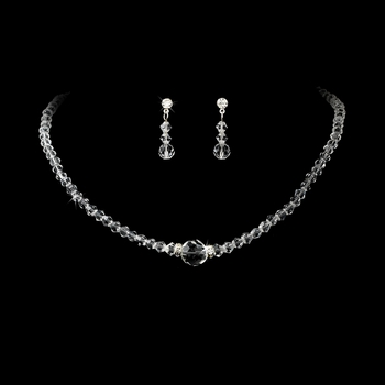 * Clear Crystal Bridal Jewelry Set NE 234