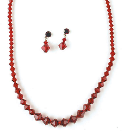 * Necklace Earring Set NE 231 Red